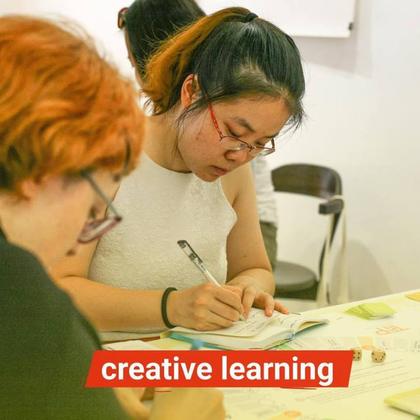 creative learning in supportive team environment at inspiring change residency 2019